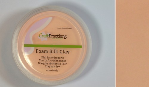 CraftEmotions - Foam Silk Clay - huidskleur
