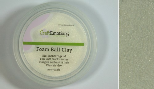 CraftEmotions - Foam Ball Clay - wit