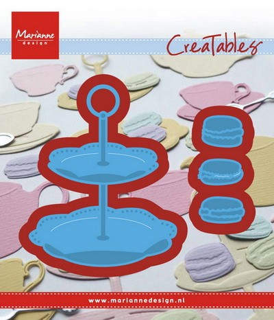 Marianne Design - Die - Creatables - Stencil tiered tray and macarons