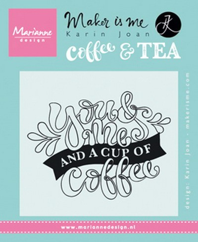 Marianne Design - Clearstamp - Karin Joan -  you&me and a cup of coffee