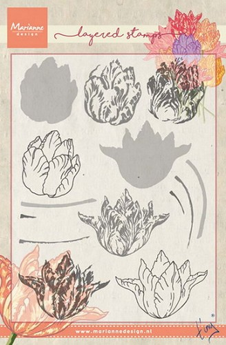 Marianne Design - Clearstamp - Tiny`s tulip (layering)