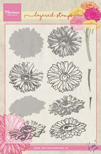 Marianne Design - Clearstamp - Tiny`s gerbera (layering)