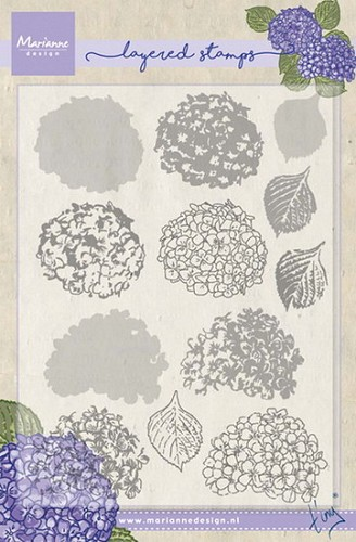 Marianne Design - Clearstamp - Tiny`s hydrangea (layering)