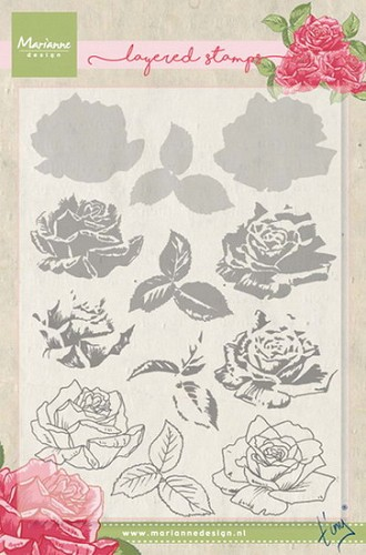 Marianne Design - Clearstamp - Tiny`s rose (layering)