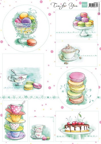 Marianne Design - knipvel - Tea for you 1