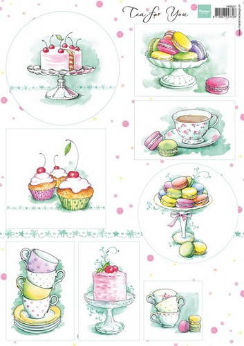 Marianne Design - knipvel - Tea for you 2