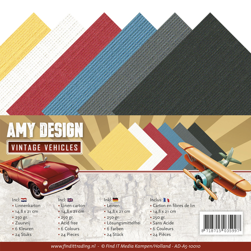 Amy Design - Linnenpakket - A5 - Vintage Vehicles