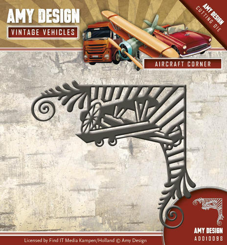 Amy Design - Die - Vintage Vehicles - Aircraft Corner