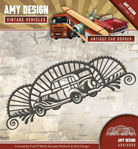 Amy Design - Die - Vintage Vehicles - Antique car border