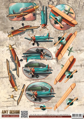 Amy Design - 3D Knipvel - Vintage Vehicles - Planes
