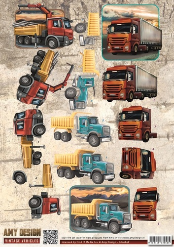 Amy Design - 3D Knipvel - Vintage Vehicles - Trucks