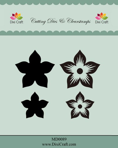 Dixi Craft - Die & Clearstamp - Flower