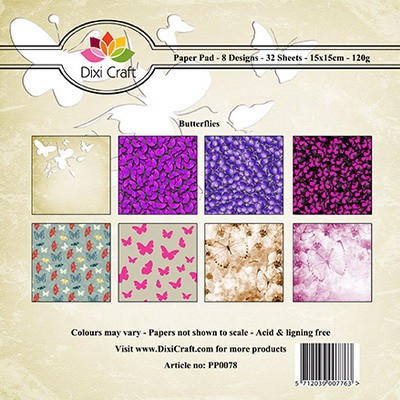 Dixi Craft - Paperpack - Butterfly background