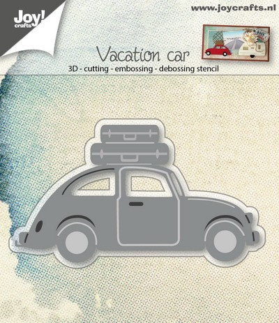 Joy!Crafts - Cutting & Embossing - stencil 3D auto VW met koffers
