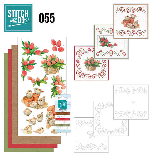Card Deco - Stitch and Do - Borduurset 55 - Garden Classics