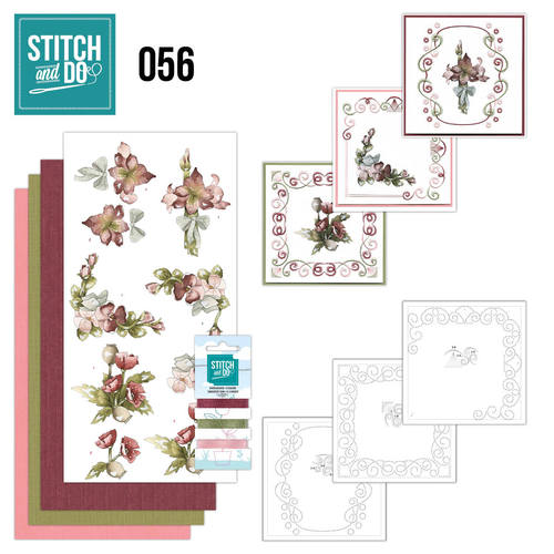 Card Deco - Stitch and Do - Borduurset 56 - Fantastic Flowers