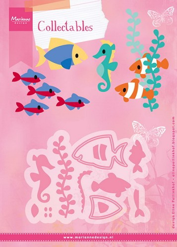 Marianne Design - Die - Collectables - stencil tropical fish