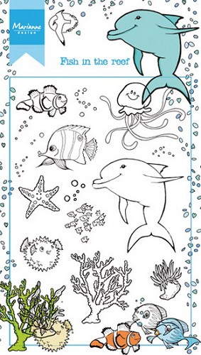 Marianne Design - Clearstamp - fish in the reef