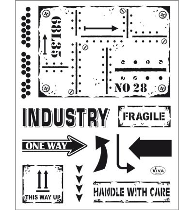 Viva Decor - Clear Stamp - Industrial Style