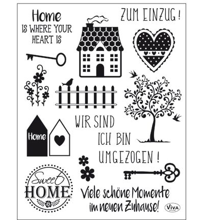 Viva Decor - Clear Stamp - Sweet Home