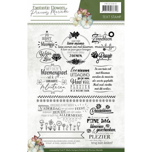 Precious Marieke - Clearstamp - Fantastic Flowers text
