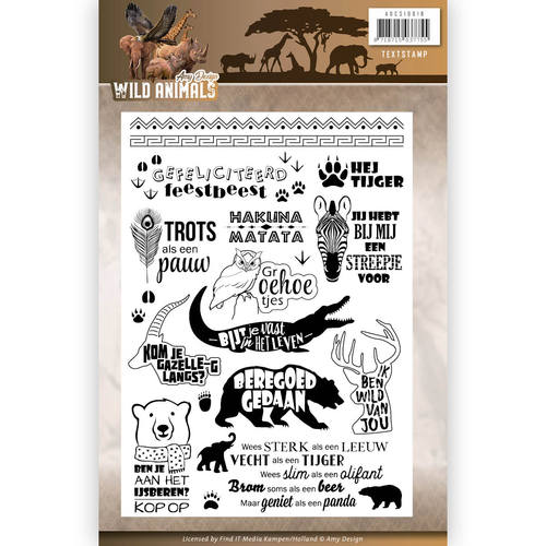Amy Design - Clearstamp - Wild Animals - Tekst
