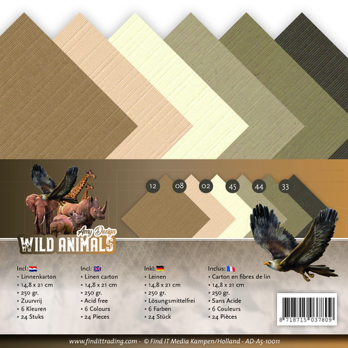 Amy Design - Linnenpakket - A5 - Wild Animals