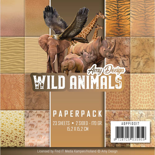 Amy Design - Paperpack - Wild Animals