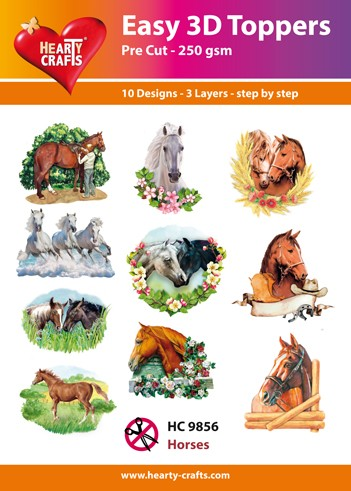 Hearty Crafts - Easy 3D Toppers - Horses