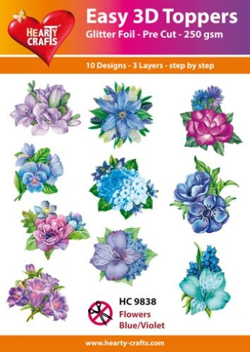 Hearty Crafts - Easy 3D Toppers - Flowers
