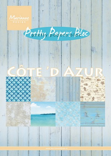 Marianne Design - Pretty Papers Bloc - Cote d`Azur