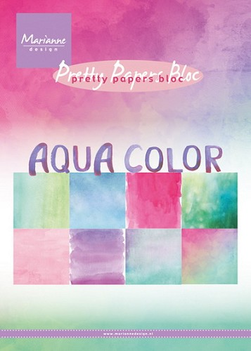 Marianne Design - Pretty Papers Bloc - Aqua Color
