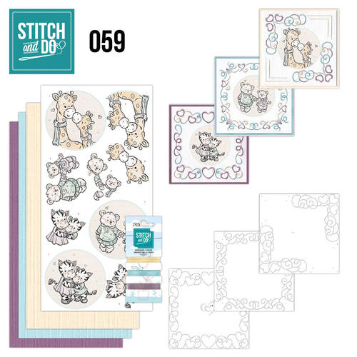 Card Deco - Stitch and Do - Borduurset 59 - I love you