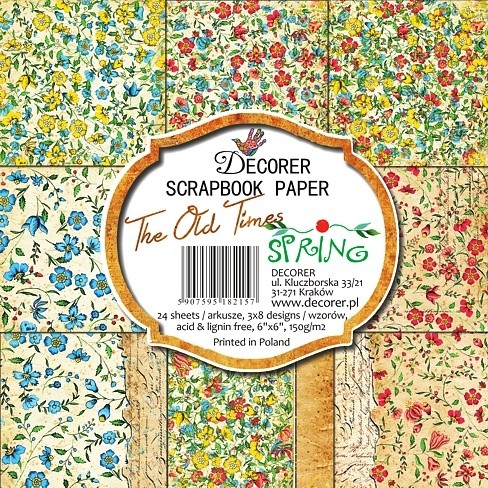 Decorer - Scrapbook Paper (15 x 15cm) - The Old Times Spring