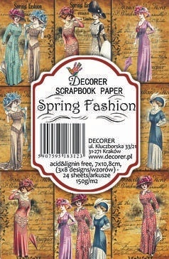 Decorer - Scrapbook Paper Mini - Spring Fashion