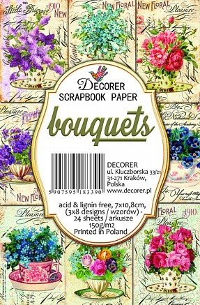 Decorer - Scrapbook Paper Mini - Bouquets