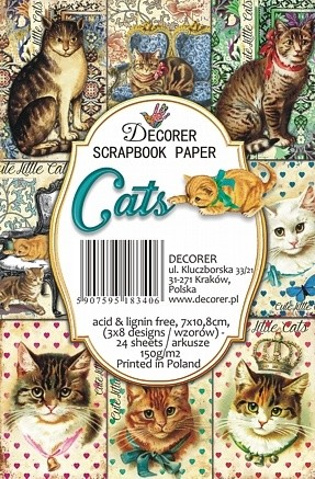 Decorer - Scrapbook Paper Mini - Cats