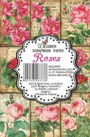 Decorer - Scrapbook Paper Mini - Roses