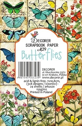 Decorer - Scrapbook Paper Mini - Butterflies