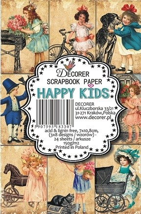 Decorer - Scrapbook Paper Mini - Happy Kids