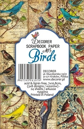 Decorer - Scrapbook Paper Mini - Birds