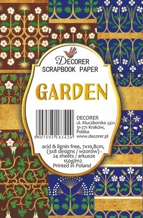 Decorer - Scrapbook Paper Mini - Garden New