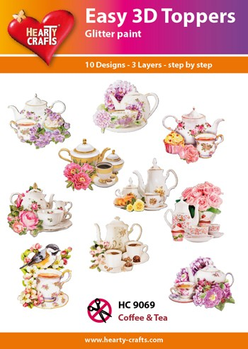Hearty Crafts - Easy 3D Toppers - Coffee & Tea