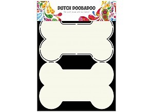 Dutch Doobadoo - Dutch Card Art - Dog bone