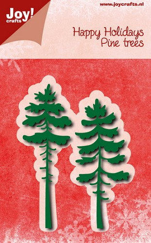 Joy!Crafts - Stencil - Happy holidays dennebomen