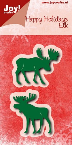Joy!Crafts - Stencil - Happy holidays elanden