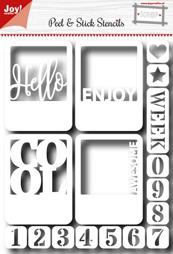 Joy!Crafts - Stencil - Hello and numbers
