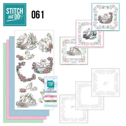 Card Deco - Stitch and Do - Borduurset 61 - Swans