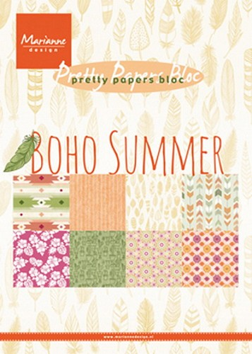 Marianne Design - Pretty Papers Bloc - Boho summer