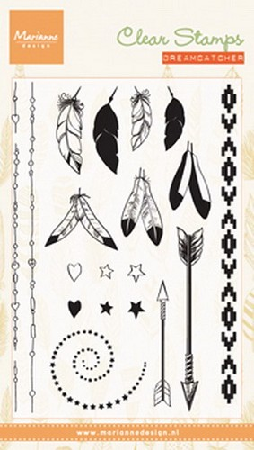 Marianne Design - Clearstamp - Feathers